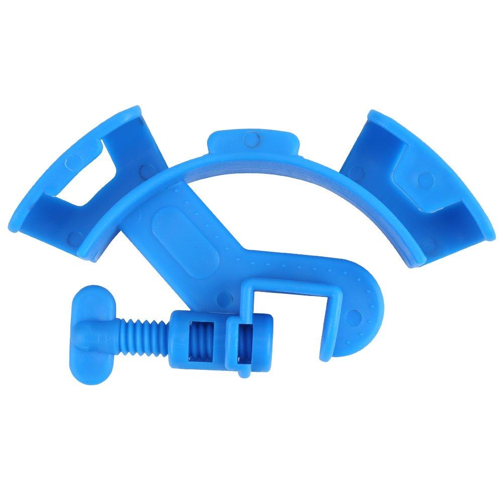 Sixrun Abrazadera de la Tubería del Tanque de Peces, Manguera de Agua del Acuario Ajustable Abrazadera de la Abrazadera del Clip del Soporte Azul
