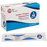 Dynarex Tongue Depressor Ster Jr 5.5'' - 10/100/Cs