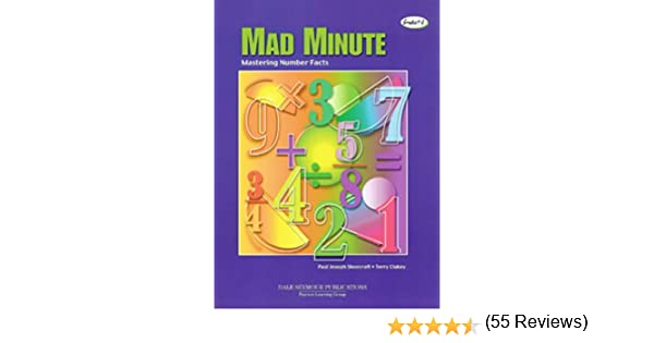 Amazon.com: Mad Minute: Mastering Number Facts, Grades1-8 ...