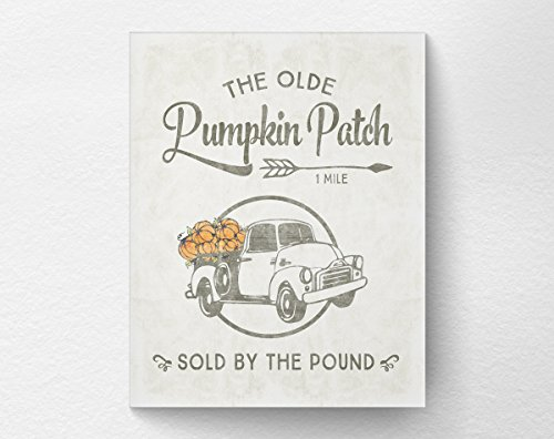 Pumpkin Patch Rustic Farmhouse Art Print Poster, Fall Autumn Decor