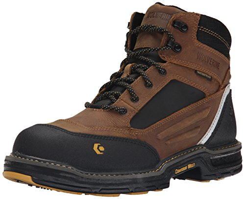 Image of the Wolverine Men's Overman Nano Toe 6 inch WPF Contour Welt Work Boot, Wheat/Tan, 7.5 M US
