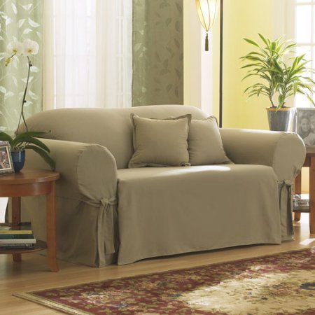 Sure Fit Cotton Duck - Sofa Slipcover - Linen (SF26666)