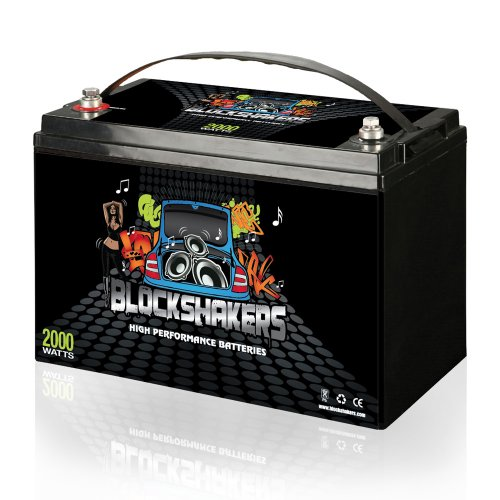 Price comparison product image Black 12V 110AH 2000 Watts M8 / T8 High Current Battery replaces Kinetik HC2400