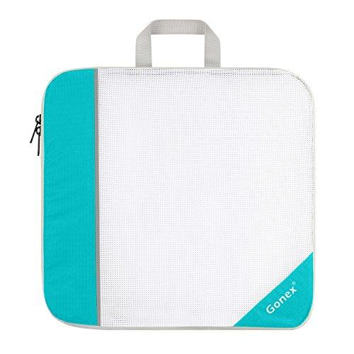 Mesh Organizer Large (Gonex Packing Cube, Extensible Storage Mesh Bag Travel Organizer Large Blue)