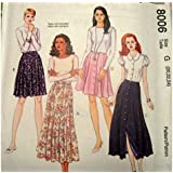 Misses 4-Tiered Skirt Sewing Pattern Xsml, Sml, Med Size Y McCalls 6840
