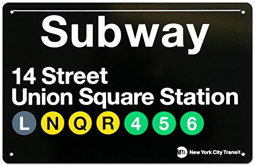 Union Square Print (Subway Union Square Station Tin Sign 17 x 11in)