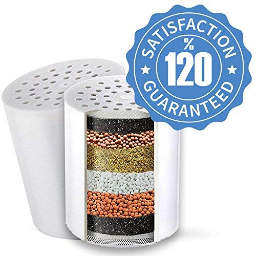 Replacement 15 Stage Shower Filter Cartridge - Longest Lasting High Output Universal Shower Filter Blocks Chlorine Metals Toxins (water-pictchter)