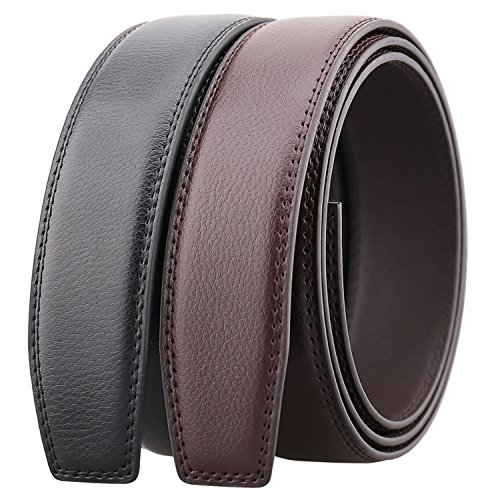 Men's Leather Ratchet Belt Multiple Colour Without Buckle (Suitable for 20