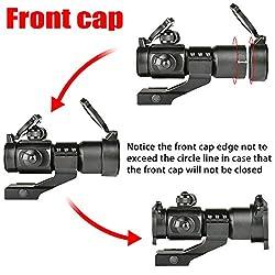 MidTen Tactical Red Green Dot Sight Rifle Optics Reflex Gun Sights with 20mm Cantilever Mount