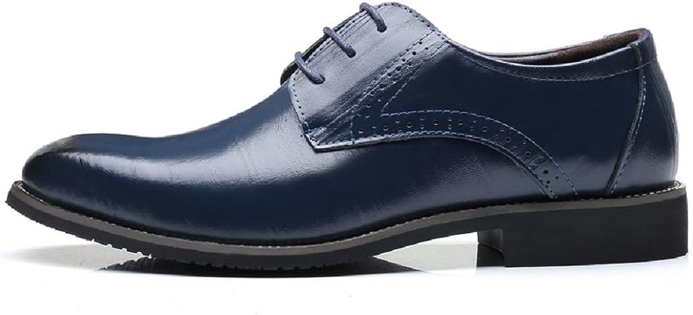 Chaussure Homme Cuir Brogue Lacets Business Cuir Vernis Derby Mariage Dressing Oxford Noir Marron Rouge Jaune Bleu 37-48EU