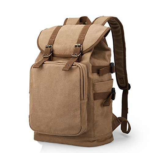 OXA Large Fashion Vintage Canvas Laptop Computer Backpack Travel Backpack  Daypack Rucksack College Bookbags Outdoor Camping 9b288c33080bb