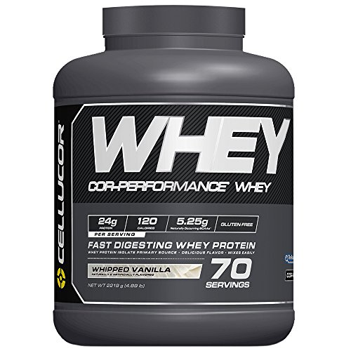 Cellucor Whey Protein Isolate & Concentrate Blend Powder with BCAA, Post Workout Recovery Drink, Gluten Free Low Carb Low Fat, Whipped Vanilla, 70 Servings