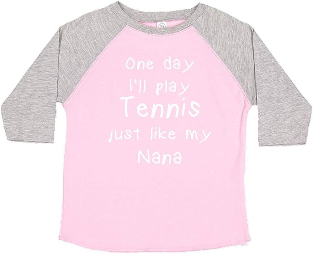 One Day Ill Play Tennis Just Like My Nana Toddler//Kids Raglan T-Shirt
