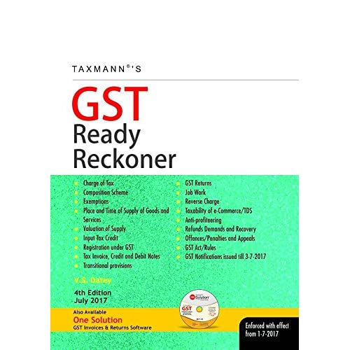 GST Ready Reckoner: Enforced with Effect from 1-7-2017