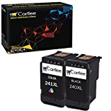Cartlee 2 Remanufactured High Yield Ink Cartridge Replacement for PG-240XL 240 XL CL-241XL 241 XL PIXMA MX472 MX452 MG3220 MG3520 MX432 MX439 MX512 MG2120 MG3600 MX459 MX479 MG3620 (1 Black, 1 Color)