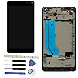 LCD Display Touch Screen Digitizer Assembly With Frame For Microsoft Lumia 950 XL 950XL (black)