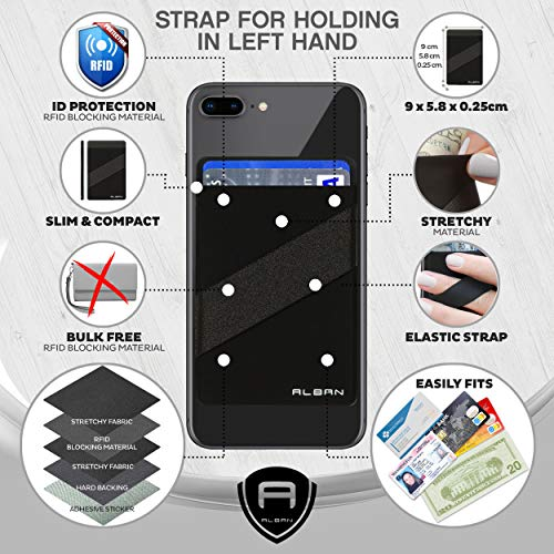 Amazon.com: Alban 2 Pack Stick On Back of Cell Phone Pocket ...
