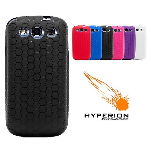 new style d4d0f 90416 Hyperion Samsung Galaxy S III Extended Battery HoneyComb TPU Case Black  (Hyperion Retail Packaging) **Compatible with ALL Hyperion, Qcell, Onite,  ...