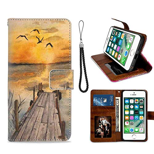 (Sunset Phone Wallet Case for iPhone 7 Plus | iPhone 8 Plus Nice)