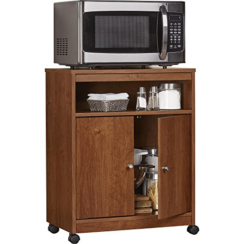Ameriwood Home Landry Microwave Cart, Brown Oak