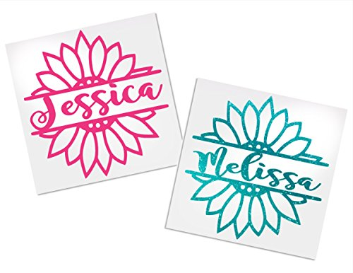 Personalized Flower Decal, Your Choice of Color & Name | Decals by ADavis