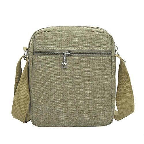 Fashion Green Handbag Travel Army Bag Messenger Men Korean Bags Canvas Shoulder Casual Widewing 7SEBwE