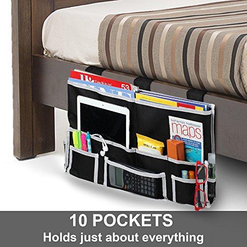 Fancii 10 Pocket Bedside Caddy Hanging Storage Organizer