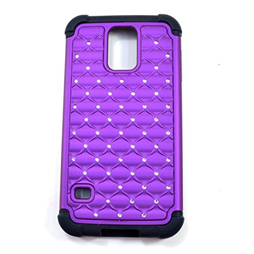 Dasein Super Protective Slim Ultra Rhinestone Studed Shock Absorbing Phone Case, Cover, Holder for Samsung galaxy S5 - Purple