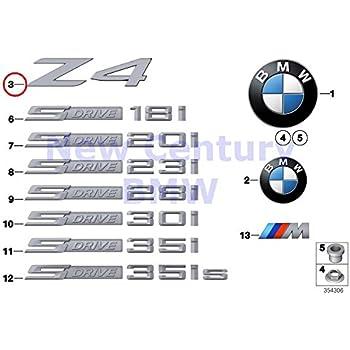 """/""""3.0i/"""" for Fender 51147114723 BMW E85 Z4 2003-2008 Genuine Emblem"""