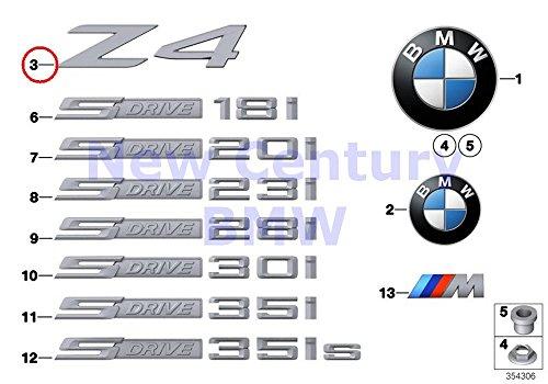 Genuine BMW E89 Roadster Trunk Lid Z4 Emblem Badge Logo Sign OEM 51147221372 ()