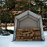 Abba Patio Outdoor Storage Shelter with Rollup Door