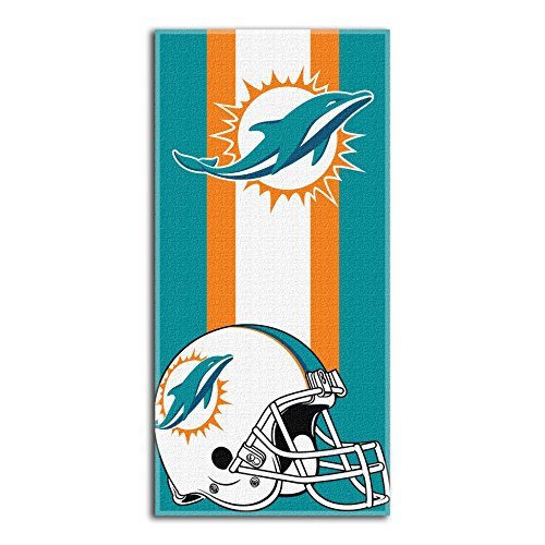 The Northwest Company NFL Miami Dolphins Zone Read Beach Towel, Green, 30'' x 60'' -