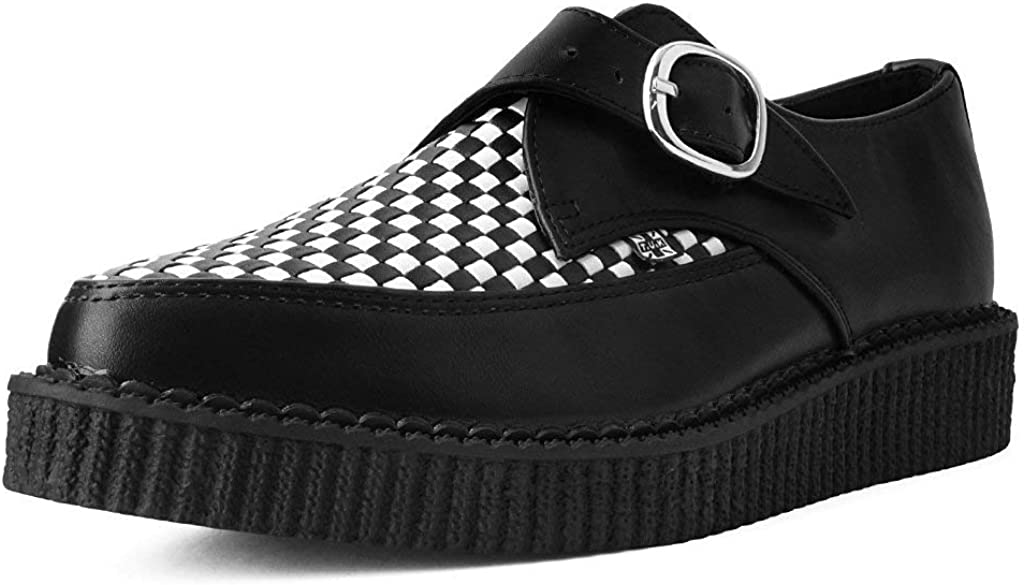 White Woven Buckle Pointed Creeper   Shoes