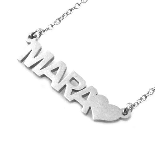amorili Collar con el Nombre Mara en Cadena de Acero ...