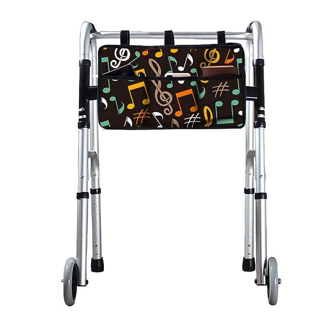 QEES GJB704 - Bolsa para andador con marco universal y funda de almacenamiento para silla de ruedas