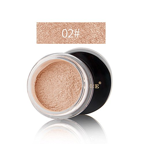 (Luxury Illuminating Glow Shimmer Bronzer Loose Powder Foundation - 3 different colors for you to choose from (02#))