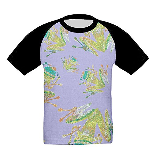 Tree Frog Sweatshirt - FSB SWEATER Tie Dye Heart Tree Frog Boy Unisex T-Shirt Casual Raglan Short Sleeves Sweatshirt