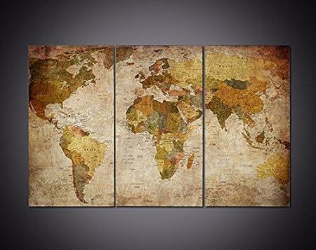 3pcs framed world map canvas prints 3 piece canvas map artwork 3pcs framed world map canvas prints 3 piece canvas map artwork painting on wall art gumiabroncs Gallery