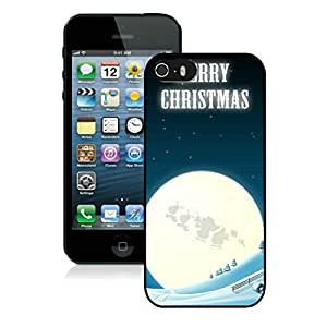 Individualization Iphone 5S Protective Case Merry Christmas iPhone 5 5S TPU Case 8 Black