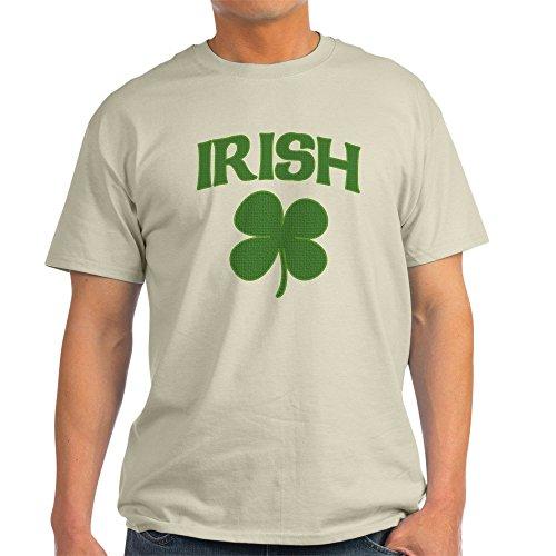 CafePress - Irish Shamrock Light T-Shirt - 100% Cotton (Irish Shamrock Light T-shirt)