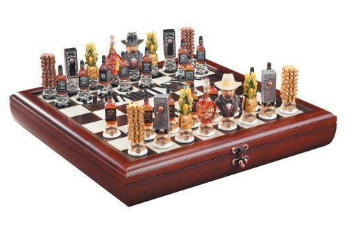 Jack Daniel's Wooden Chess Set - Includes Board and Pieces