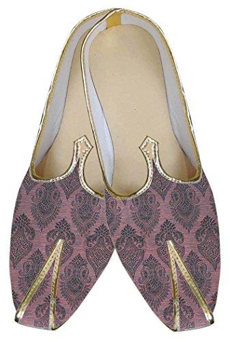 INMONARCH Hombres Rosa Novio Zapatos de Boda MJ0102