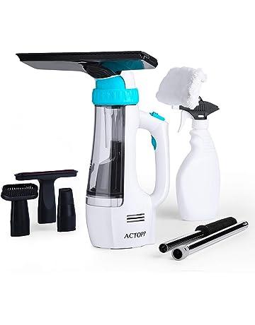 ACTOPP 4 en 1 Limpiador de Ventanas Aspirador de Ventana Recargable con Boquilla Intercambiable Accesorios Limpiador
