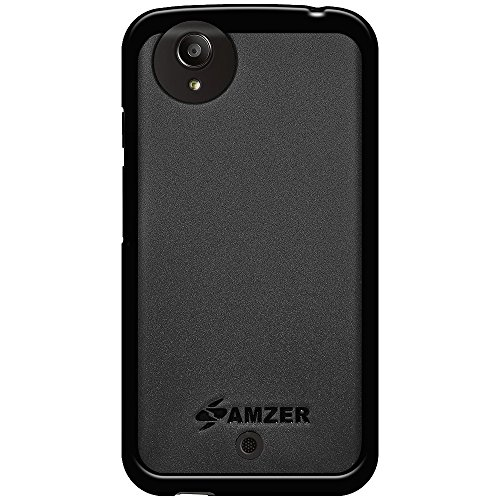 Amzer Pudding Soft Gel TPU Case Back Cover for Android One Spice Dream UNO Mi - Retail Packaging - Black - Dream Pudding