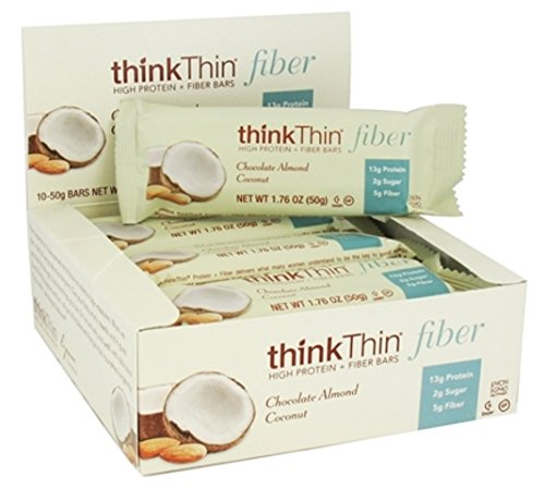 thinkThin Protein Nut Bar, Chocolate Coconut Almond, 1.41-Ounce Bars ( Family Pack of 3) thinkThin-cl by thinkThin