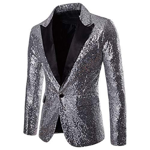 Festivo Costume Cappotto Da Blazer Uomo Argento Giacca Paillettes Con Elegante Party Gladiolusa xwpqn0Ra6n