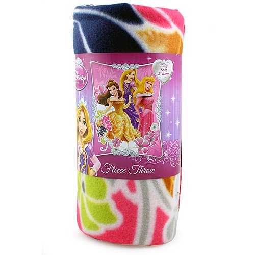 Disney Princess New 2013 Fleece Blanket for Children (Princess Shining Flowers) 46