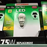 Sylvania Ultra LED A19 2700K Soft White 14W (75W Equivalent) 827 Lumens 727688