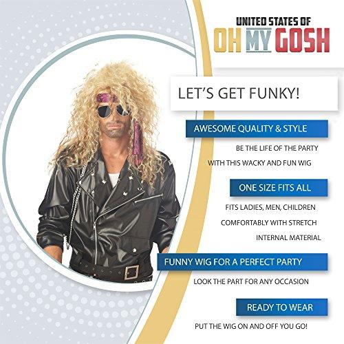 Choose from 2 Styles 80s Rocker Wig #1 80s Rock Star Costume Wig Slash