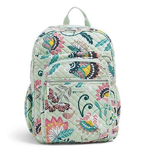Flowers Vera Bradley - Vera Bradley Iconic XL Campus Backpack, Signature Cotton, Mint Flowers